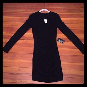 Express long sleeve black sweater dress